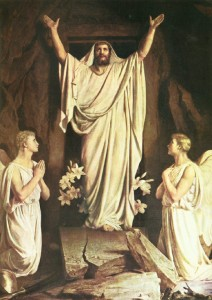 Painting of Jesus after the resurrection
