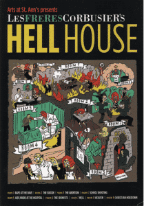 HELL HOUSE PUBLICITY POSTCARD. ILLUSTRATION BY JASONFORD, HEART USA, INC.
